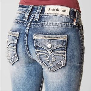 NWT Women's Rock Revival Boot Cut Jeans Size 24